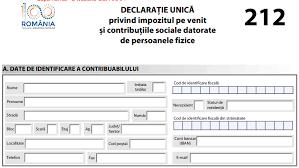 Declaratie unica formular actualizat
